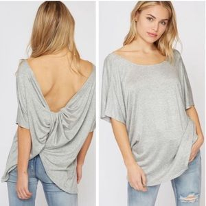 💃Demi Knot Twist Back Top in Grey